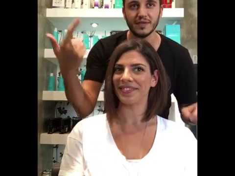 Hair MakeOver by ikonomakis κομμωτήρια  long to short Aline bob