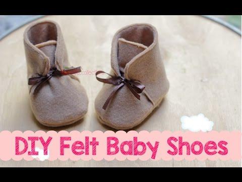 DIY Felt Baby Boots Shoes - Membuat Sepatu Boot Bayi