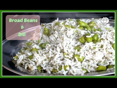 Green Rice (Broad Bean Dill Rice Recipe)