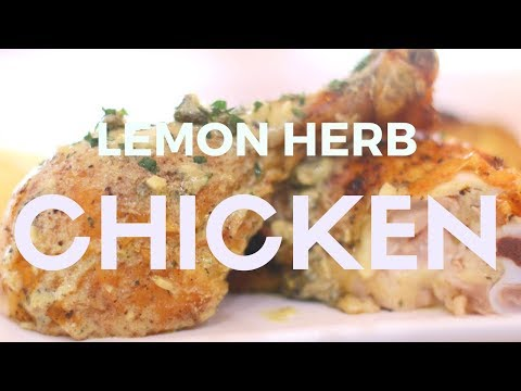 Lemon and Herb Roasted Chicken with Caper Cream Sauce