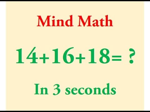 Fast Addition calculations in Mind!
