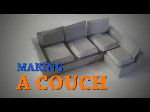 Making a papercraft Couch. Video tutorial