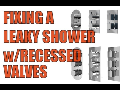 How to fix a dripping shower with concealed 1/4 turn valves