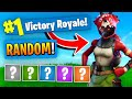 The RANDOM Outfit Challenge In Fortnite Battle Royale