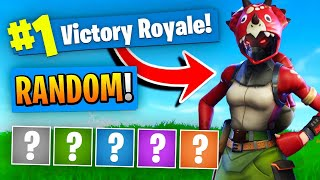 The *RANDOM* Skin Challenge In Fortnite Battle Royale!