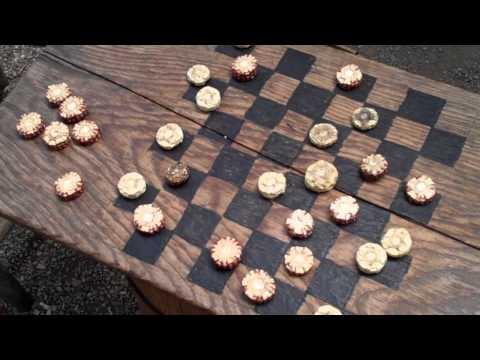 Antique Wooden Checkers Collectibles Canastas de Madera Corncob Checkers