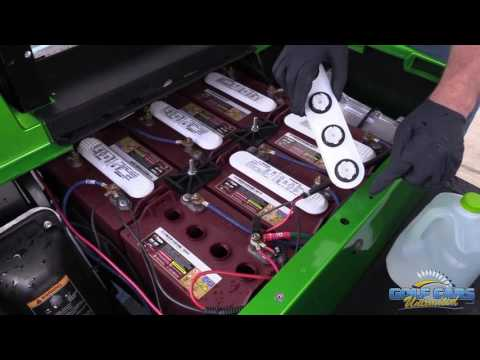 How to Fill Your Electric Golf Car Batteries | Golf Cart Maintenance