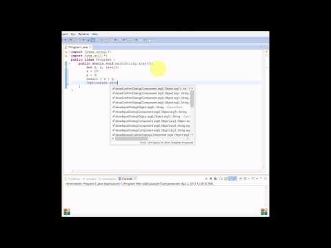 Java Tutorial 3: Basic Math Calculations(Using Variables)