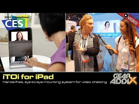 iTOi iPad Mounting Station for Eye-To-Eye, Hands Free Video Chatting (CES 2014)