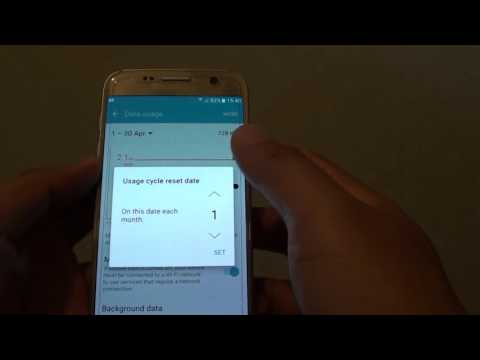 Samsung Galaxy S7: How to Set Mobile Data Usage Limit