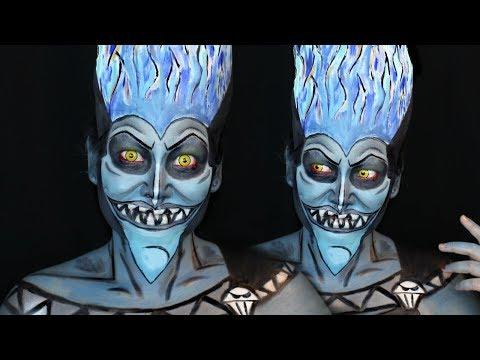 Hades Inspired Makeup Tutorial from Disney's Hercules ⚡️
