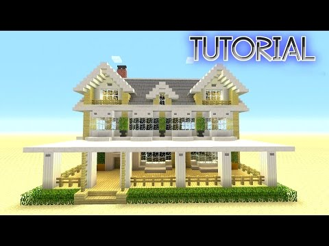 Minecraft: How To Build A Suburban House | Minecraft Berch House | Tutorial