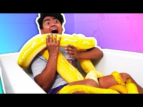 SNAKE BATH CHALLENGE!