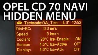 Opel Astra GID CD 70 NAVI hidden menu navigation secret