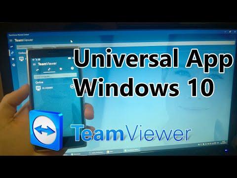 Team Viewer Universal App | Windows 10 Mobile