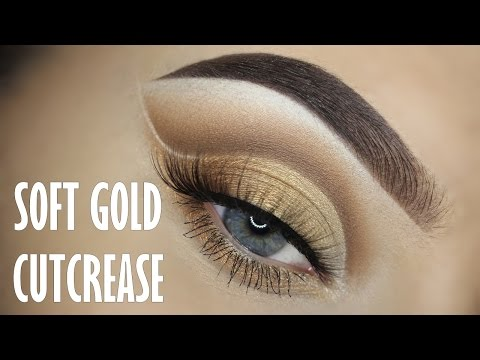Soft gold cutcrease tutorial (No eyeliner)