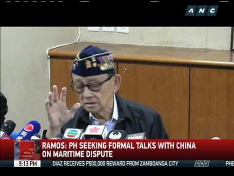 FVR: PH eyes formal talks with China on maritime dispute