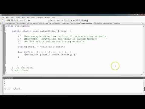 Java - Strings using loops