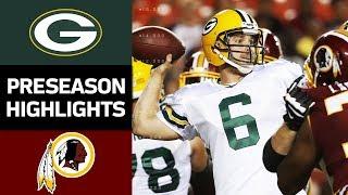 Packers vs. Redskins | NFL Preseason Week 2 Game Highlights