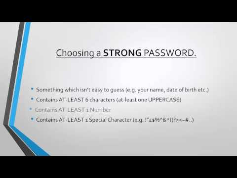 Choosing a Strong & Secure Password