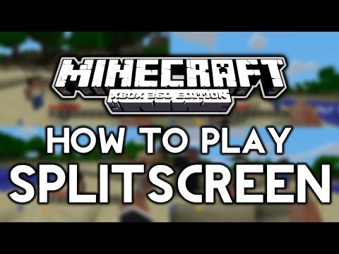 How to Play Splitscreen Minecraft! XBOX 360
