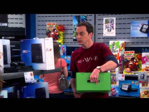 The Big Bang Theory - Sheldon can't choose between PS4 and Xbox One S07E19 [HD]