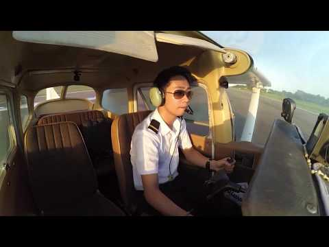 Solo Takeoff and Landings Cessna 172 (Confidence Flight)