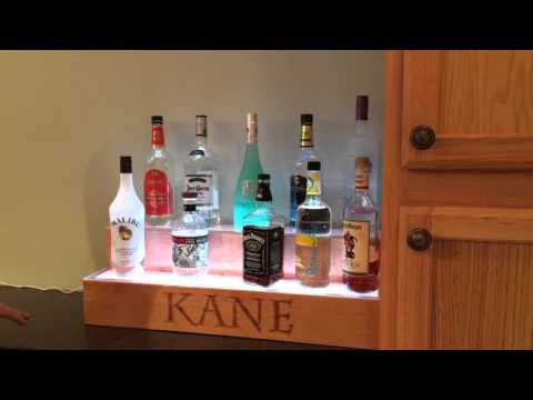 DIY LED Liquor shelf