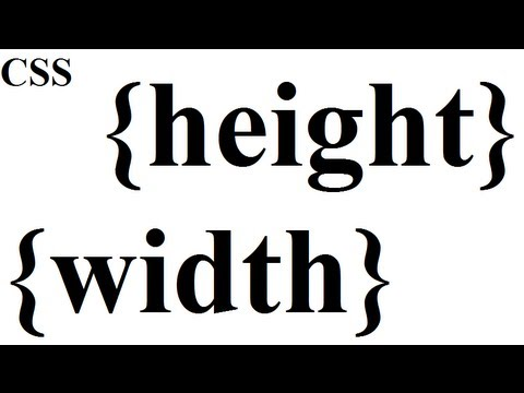CSS how to: height and width