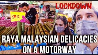 Lockdown: Eating Malaysian Motorway Delicacies | Hari Raya shopping in KL during MCO (Vlog 2020)