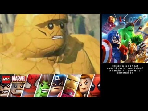 LEGO Marvel Super Heroes: Universe in Peril (3DS/Vita) Walkthrough Part 23 - Island M Boss Fight