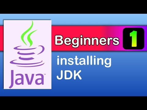java beginners 1 : Installing JDK Java tutorials
