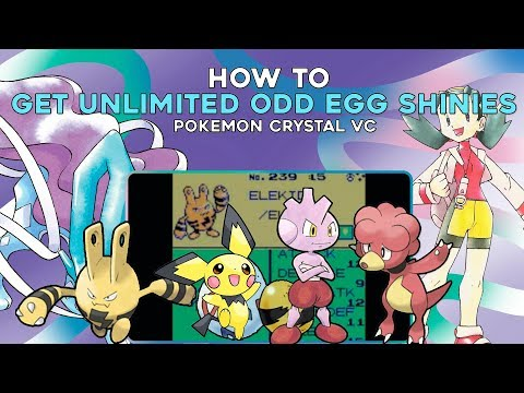 Pokemon Crystal 3DS (VC): How to get Unlimited ODD Egg Shiny Pokemon