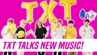 Download TXT (TOMORROW X TOGETHER) Interview + 'Cat & Dog' Dance Tutorial With Liam McEwan Video