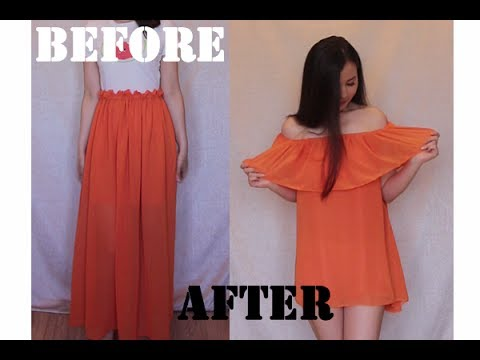From long skirt to off the shoulder top/dress ??? EP [9]