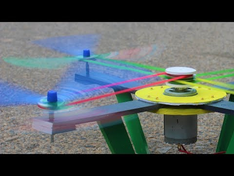 how to make a Drone - Rubber Band Drone