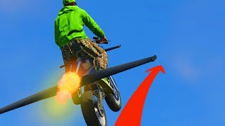 FLY 100 MILES WITH A BIKE CHALLENGE! (GTA 5 Funny Moments)