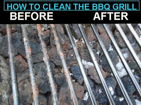 Clean the BBQ GRILL without toxic  chemicals, video #1056