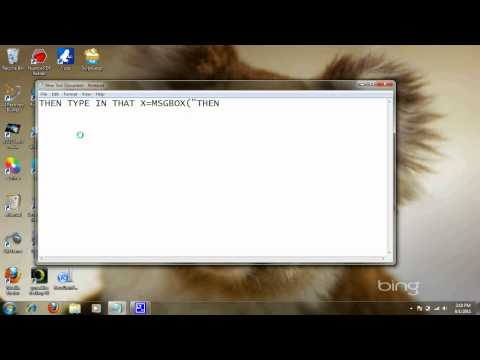 How to make a Text box using notepad