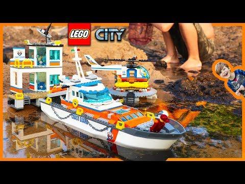 Lego City Coast Guard Headquarters Epic Sea Rescue Mission + Time Lapse Build!