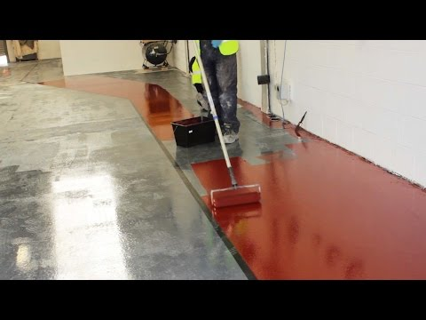 Painting A Lorry Workshop Floor with Rizistal Epoxy Resin Paint