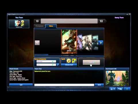 How To Unlock Any Skin   FREE DOWNLOAD   09 12 2013   League Of Legends   YouTube