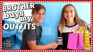 BROTHER BUYS MY BACK TO SCHOOL OUTFITS CHALLENGE!