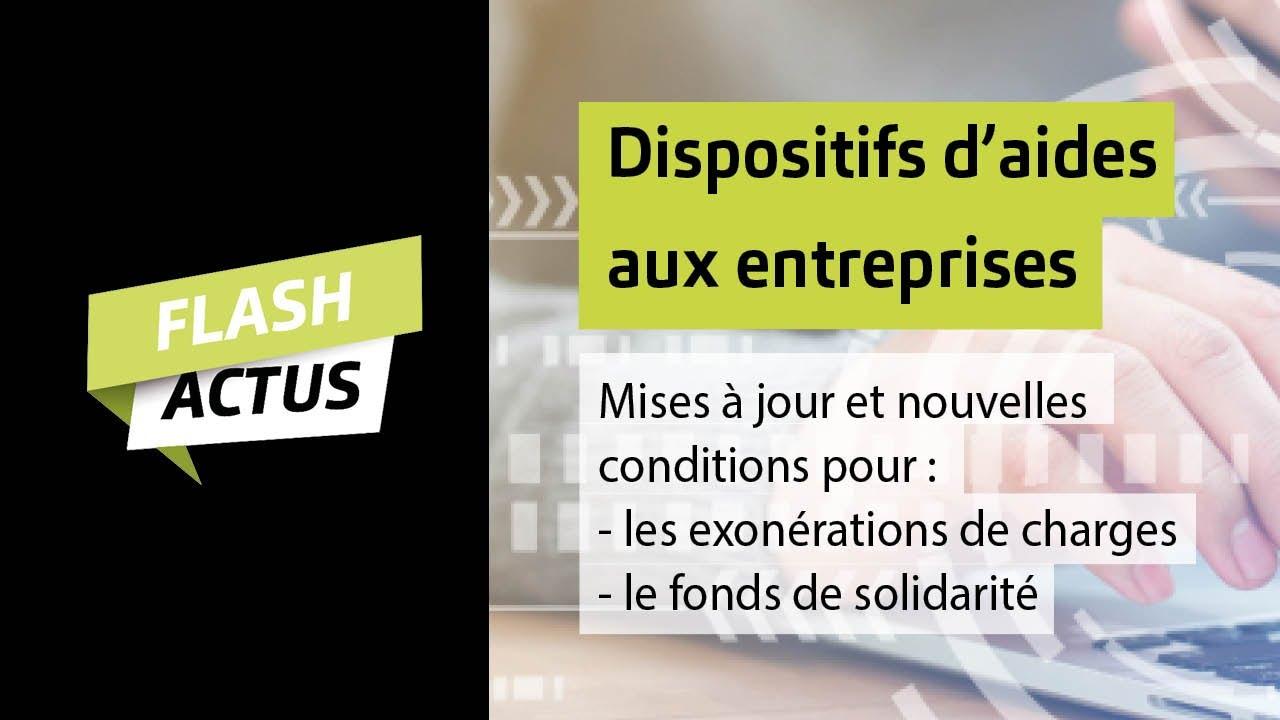 [12/02] Flash Actus : Aides aux entreprises (exonérations de charges, fonds de solidarité)