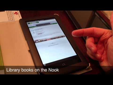 Nook - Checking out Library Book