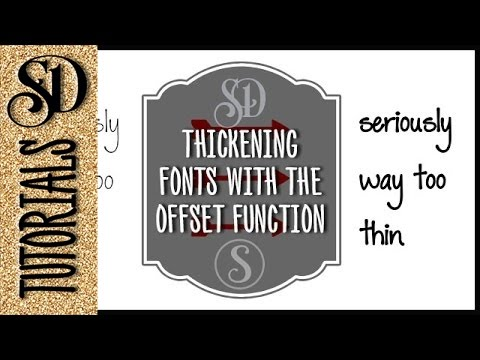 Thickening skinny fonts in Silhouette Studio #silhouettetutorials #learnsilhouette