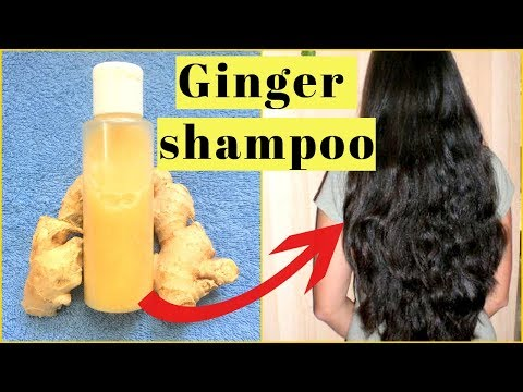 GINGER SHAMPOO | How To Grow Long Thick Hair With Ginger | Get Long,Thick,shiny,Smooth Hair