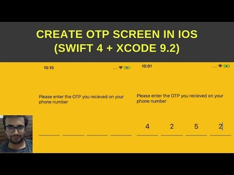 Create OTP screen in swift 4