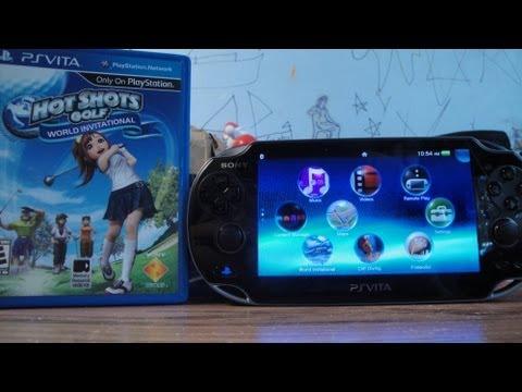 Playstation Vita Game Cartridge Unboxing & Install (Hot Shots Golf World Invitational)