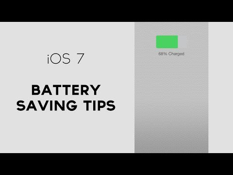iPhone iOS 7 Battery Saving Tips